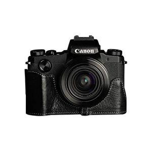 TP Original Canon PowerShot G1 X Mark III 用 ボディーハーフケース ブラック|mikannnnnn