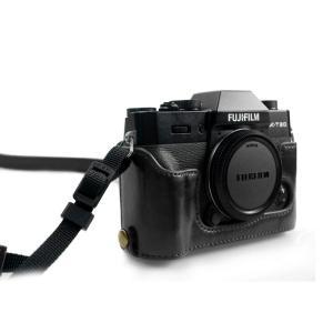 kinokoo 富士 ミラーレス一眼カメラ FUJIFILM XT20 XT10 XT30 対応 カメラケース バッテリー交換でき ショルダ|mikannnnnn