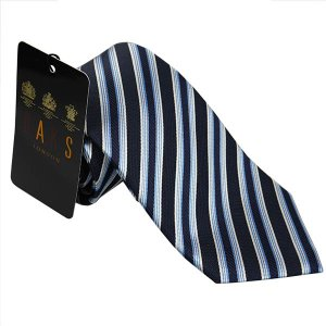 DAKS ダックス ネクタイ 特別価格 d11541c2 紺 ブルー斜め柄|mikawatk