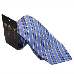 DAKS ダックス ネクタイ 特別価格 d11541c6 ブルー系斜め柄|mikawatk
