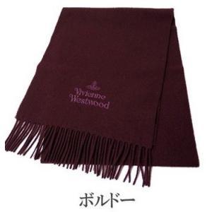 Vivienne Westwood ヴィヴィアン マフラー レディース/メンズ. 10638-I401 ボルドーワイン|mikawatk