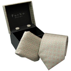 Furbo  ネクタイ カフス  チーフ 3点 セット    lq3460th グレー系|mikawatk