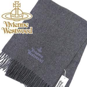 Vivienne Westwood ヴィヴィアン マフラー レディース/メンズ. 10638-P401 グレー|mikawatk