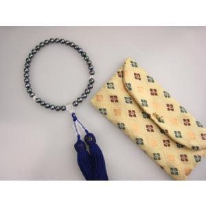 パール アコヤ真珠 数珠 7mm  黒染|mikawatk