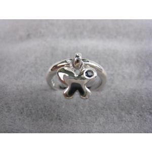 シルバーリング 蝶  サファイア   11号 指輪|mikawatk