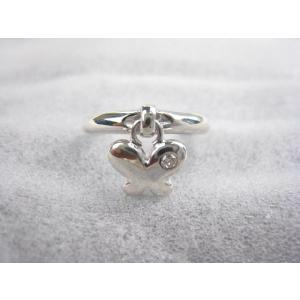 シルバーリング 蝶  ダイヤ   12号 指輪|mikawatk