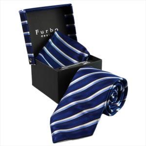 Furbo design ネクタイ&タイバー&カフス&チーフ 4点SET450SM1033color6-733625-450 mikawatk