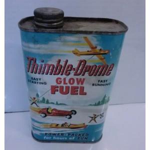 ブリキ Thimble‐Drome GLOW FUEL CANCOビンテージオイル缶|mikestore