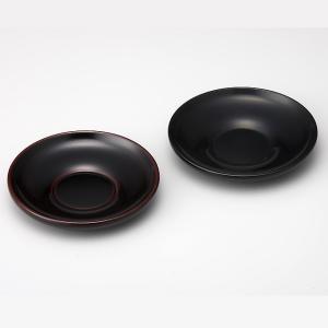 輪島塗 茶托 無地 黒/溜 ダルマ型 1枚 (漆器)|miki-holz
