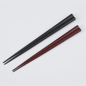 輪島漆器 乾漆五角箸 夫婦 (黒/うるみ) 2膳用桐箱入り miki-holz