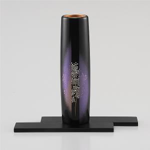 輪島塗 花器 かすみ草 桐箱入り (漆器・花瓶)|miki-holz