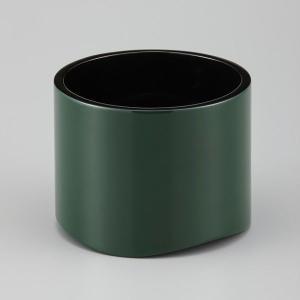 輪島塗 花器 グリーン 丸形|miki-holz