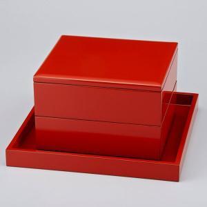 輪島塗 重箱 二段重(7寸×6.5寸) 淡口 無地 重台付|miki-holz