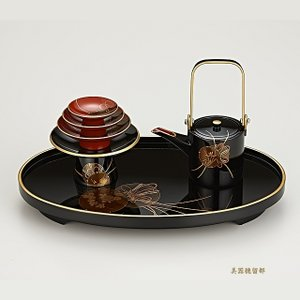 輪島塗 屠蘇器 小判形 鼓蒔絵  (漆器)|miki-holz