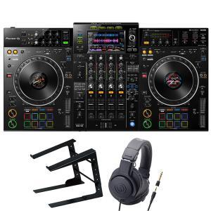 Pioneer DJコントローラー XDJ-XZ + ヘッドホン + スタンド + スピーカー セッ...