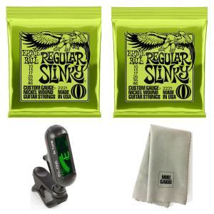 【ゆうパケットにて送料無料】 ERNIE BALL ギター弦 レギュラースリンキー #2221 (10-46) Regular Slinky  ×2セット【国内正規品】※ポスト投函・日時指定不可|mikigakki