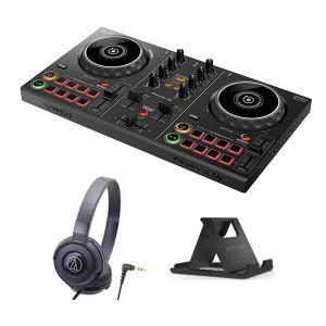 《購入特典:スマホスタンドプレゼント》PIONEER DJコントローラー DDJ-200 + ヘッドホン ATH-S100 セット 【送料無料】 mikigakki