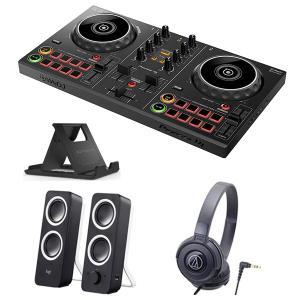 《購入特典:スマホスタンドプレゼント》PIONEER DJコントローラー DDJ-200 + ヘッドホン ATH-S100 + スピーカー Z200 セット 【送料無料】|mikigakki