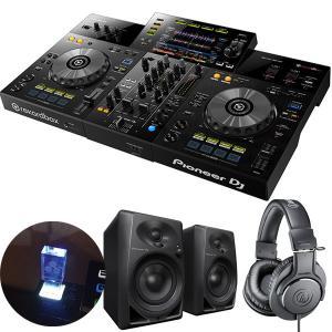 PIONEER 2chオールインワンDJシステム DJセット XDJ-RR + ATH-M20X + DM-40 + PCスタンド|mikigakki