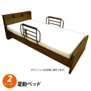 電動ベッド 2モーター 選べるマットレス オプション有料にて開梱設置あり  シングル マットレス 介護ベッド リクライニングベッド 敬老の日 送料無料|mikitty