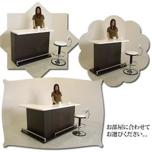 国産 120バーカウンター ダークブラウン 木目調 モダン キッチン カウンター テーブル 収納 完成品 日本製 送料無料 mikitty 09