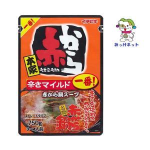 【1箱(10個)まとめ買い】1個248円(税別)  イチビキ 赤から鍋スープ 1番 ストレート(750g) 10個セット mikkenet
