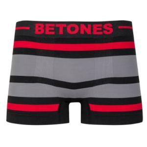 BETONES ビトーンズ BLACK AKER RED/GRAY メンズ フリーサイズ ボクサーパンツ miko-store