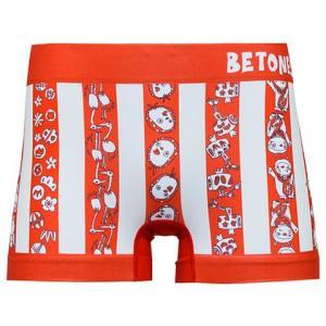 BETONES ビトーンズ COME ON 福 RED 30927 メンズ フリーサイズ ボクサーパンツ|miko-store