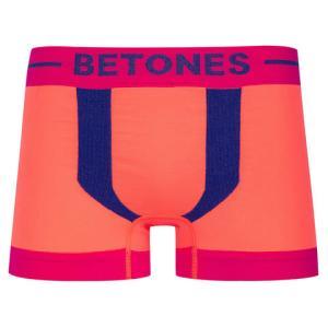 BETONES ビトーンズ KICKS PINK×NAVY メンズ フリーサイズ ボクサーパンツ miko-store
