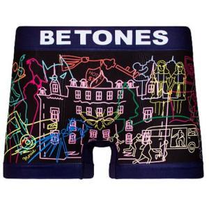 BETONES ビトーンズ STILL NAVY 31092 メンズ フリーサイズ ボクサーパンツ ※クリックポストで送料無料※|miko-store
