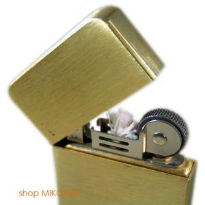 Briquet ブリケ 薄型オイルライター ソリッドブラス|miko-store|03