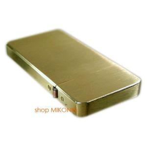 Briquet ブリケ 薄型オイルライター ソリッドブラス|miko-store|05