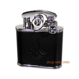 Colibri コリブリ ニッケル革巻き 黒 308-0020 フリントオイルライター|miko-store