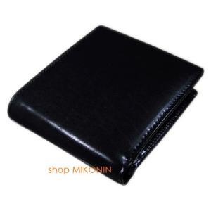 HARVIE&HUDSON 二つ折り財布 ブラック HA-2002 BK|miko-store