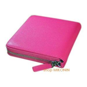 アイコスケース ピンク 牛革 ウォレット型 GCIQ-001|miko-store