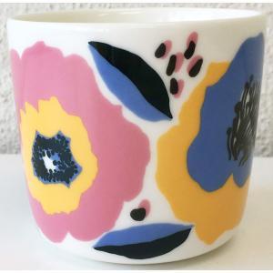 マリメッコ ROSARIUM COFFEE CUP 2DL ベージュ×ホワイト 単品|mikonfinlandshop