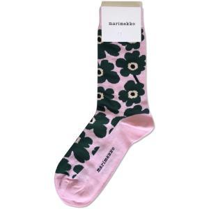 マリメッコ レディースソックス UNIKKO HIETA ウニッコヒエタ ピンク×グリーン 7サイズ mikonfinlandshop
