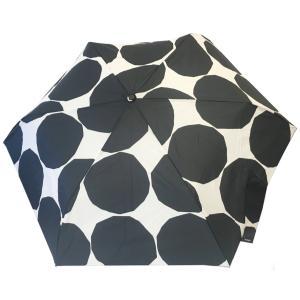 マリメッコ 折りたたみ傘 スリム KIVET キヴェット ホワイト×ブラック|mikonfinlandshop