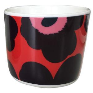 マリメッコ UNIKKO COFFEE CUP 2DL レッド×バイオレット×ピンク 単品 mikonfinlandshop