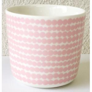 マリメッコ SIIRTOLAPUUTARHA COFEE CUP 2DL シイルトラプータルハ コーヒーカップ ホワイト×ピンク 単品|mikonfinlandshop