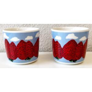マリメッコ MANSIKKA VUORET COFFEE CUP 2DL 2PCSセット マンシィッカヴォレット コーヒーカップ|mikonfinlandshop