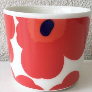 マリメッコ UNIKKO COFFEE CUP ラテマグ 2DL ホワイト×レッド 単品 mikonfinlandshop