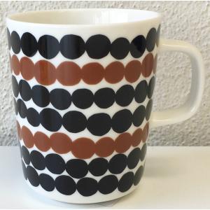 マリメッコ SIIRTOLAPUUTARHA MUG 2.5DL ホワイト×ブラック×ブラウン|mikonfinlandshop