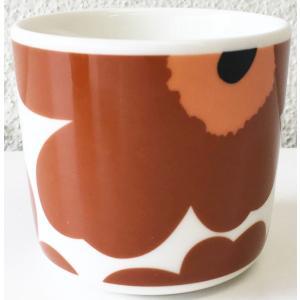 マリメッコ UNIKKO COFFEE CUP 2DL ホワイト×ライトブラウン 単品 mikonfinlandshop