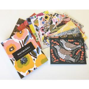 マリメッコ marimekko KUKKA CARDS +ENVELOPES 花柄カード&封筒 16枚セット|mikonfinlandshop