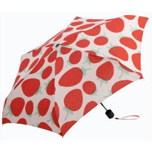 マリメッコ MANSIKKA 折りたたみ傘 マンシッカ ホワイト×レッド|mikonfinlandshop