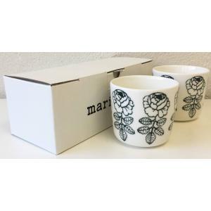 マリメッコ VIHKIRUUSU ヴィヒキルース COFFEE CUP ラテマグ 2DL 2PCSセット ホワイト×ダークグリーン mikonfinlandshop