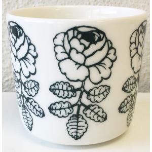 マリメッコ VIHKIRUUSU ヴィヒキルース COFFEE CUP ラテマグ 2DL ホワイト×ダークグリーン 単品 mikonfinlandshop