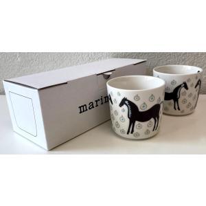 マリメッコ MUSTA TAMMA COFFEE CUP ムスタタンマ ラテマグ 2DL 2PCSセット|mikonfinlandshop