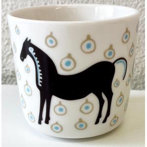 マリメッコ MUSTA TAMMA COFFEE CUP ムスタタンマ ラテマグ 2DL 単品|mikonfinlandshop